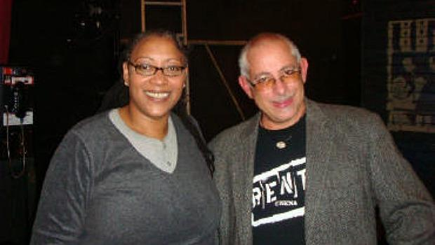 Fredi Walker Browne, an original cast member poses with Renthead Nick Montesano at a community theater production he directed in New Jersey.