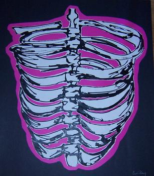 Rib cage Erin painted