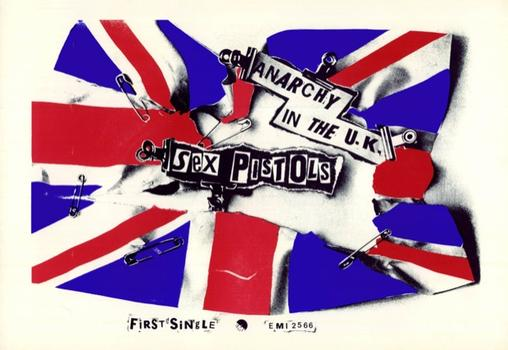 For the Musically Minded: Steven Kasher Gallery in Chelsea is examining punk and post-punk graphics. Above, Jamie Reid's seminal 1976 design for the Sex Pistols' <em>Anarchy in the U.K.</em>