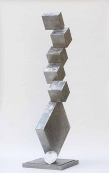 "Smith was drawn to steel because it felt contemporary. ""Metal possesses little art history,"" he once said. Seen here: 'Cubi I,' a vertiginous tower of cubes from 1963."