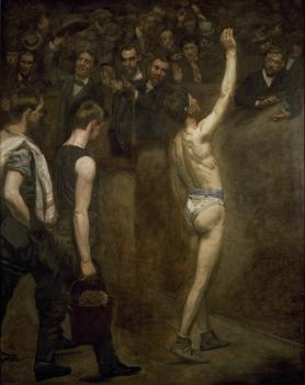 The Smithsonian exhibit generated controversy because of a single piece by David Wojnarowicz, but it is a rich collection of works from over a century -- such as Thomas Eakins' 'Salutat,' from 1898.