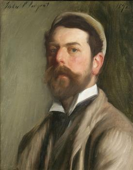 A self-portrait of John Singer Sargent from 1892 is also part of the academy's collection.