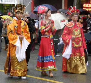 In full costume at the Vancouver BC parade