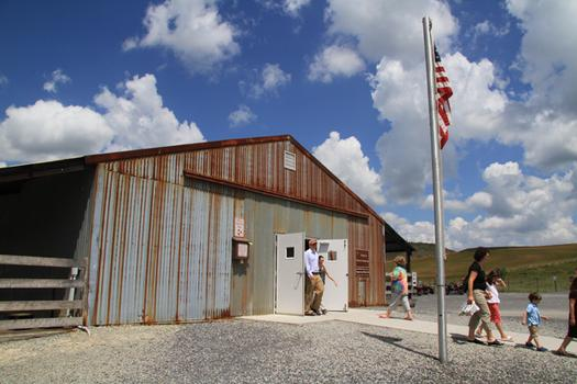 A temporary museum at the site houses tributes to the victims who died on Flight 93 as well as information about the memorial.