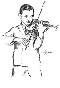 Friedman made this portrait in 1925 of Simon (Szymon) Goldberg, the concertmaster for the Berlin Philharmonic when the Nazis came to power.