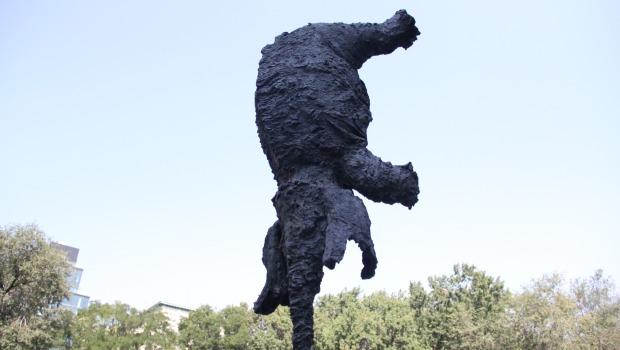 Barceló consulted with engineers to make sure the statue wouldn't fall under any circumstance.