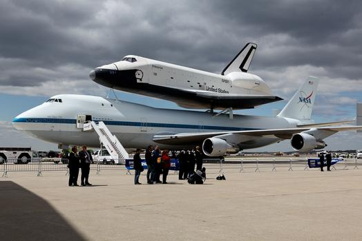 Space Shuttle Enterprise on tarmac at JFK airport in New York