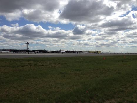 Awaiting the arrival of the Space Shuttle at JFK.