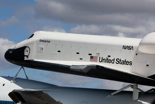 Space shuttle Enterprise arrives in New York