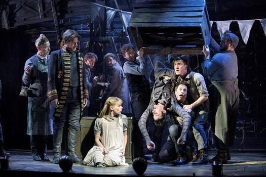 "Celia Keenan-Bolger, Adam Chanler-Berat and the cast of ""Peter and the Starcatcher."""