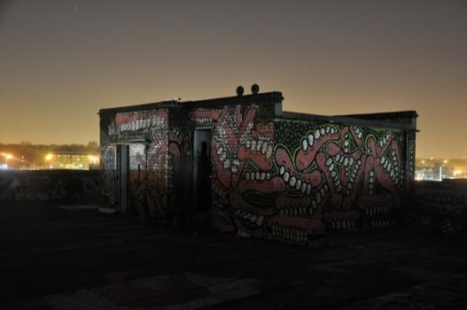 Another sample of Sweet Toof's urban handiwork, photographed at night.