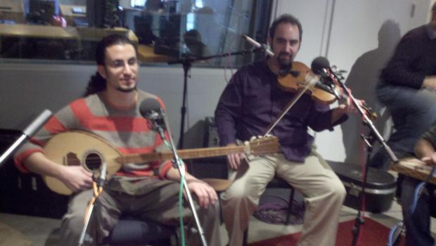 Tareq Abboushi, buzuq & vocals with Sami Shumays, violin & vocals