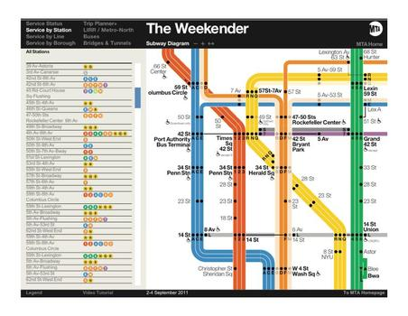 The Weekender, a new online subway map from the MTA, will show riders which areas to avoid due to service interruptions.