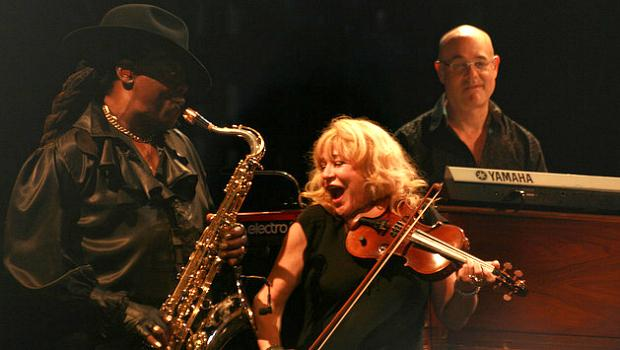 """The Big Man with """"Sister"""" Soozie Tyrell and Charlie Giordano in 2009."""