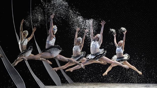 "The Mark Morris dancers in the 'Snow Scene"" from 'The Hard Nut.'"