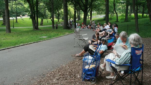 "Most summer days, the line for Shakespeare in the Park winds down the concrete path. Still, everyone in line was able to get a ticket for ""Measure for Measure"" on Tuesday, June 28."