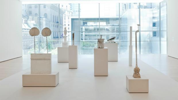 An installation view of Twombly's sculptures, acquired by the Museum of Modern Art in 2010.
