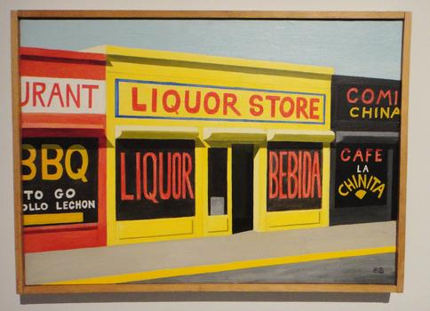 Sanchez spent much of the 1980s chronicling industrial sites in the Bronx. Seen here: 'Untitled (Storefront, 'Liquor Store,' Bronx),' from 1988.