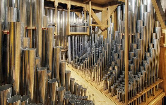 The organ has 6,183 pipes, seen here.
