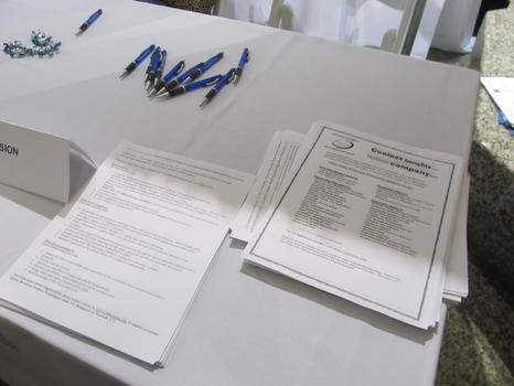 Employers like Cablevision had fact sheets ready for interested job seekers.