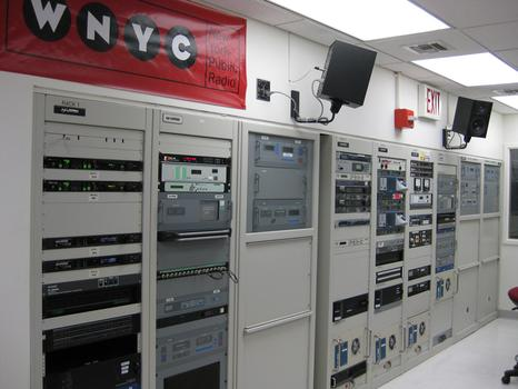 The WNYC control room, which manages the signals for 93.9 FM, AM 820, and now 105.9 FM.