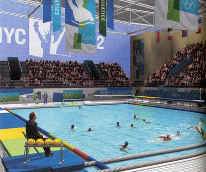 Proposed Olympic water polo pool for 2012.