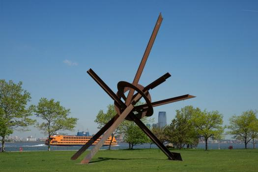 A good reason to get over to Governor's Island: Storm King, the Hudson Valley arts center, has organized an exhibit of sculptures by Mark Di Suvero. Shown here: 'Will,' a piece from 1994.