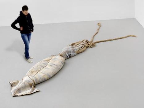 The Berlin-based David Zink Yi gets a solo show at Hauser & Wirth, complete with ceramic squid -- a piece otherwise known as 'Untitled (Architeuthis),' from last year.