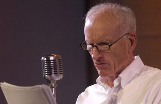 "James Rebhorn in a dress rehearsal for ""The Fall of the City\"", May 3"
