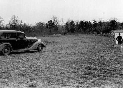 Special agent target practice, 1930s