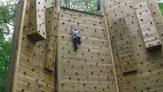 Visitors to Alley Pond Park can also enjoy the Adventure Center, which includes a rock-climbing wall and a ropes course.