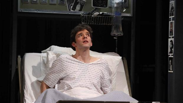 "Michael Urie as 'Prior Walter' in the Signature Theatre Company's production of Tony Kushner's ""Angels in America: A Gay Fantasia on National Themes, Part I: Millennium Approaches."""