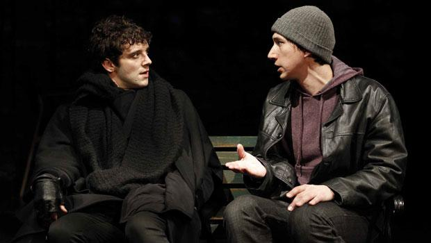 "Urie as 'Prior Walter' and Adam Driver as 'Louis Ironson' in Kushner's ""Angels in America: A Gay Fantasia on National Themes, Part 2: Perestroika."""