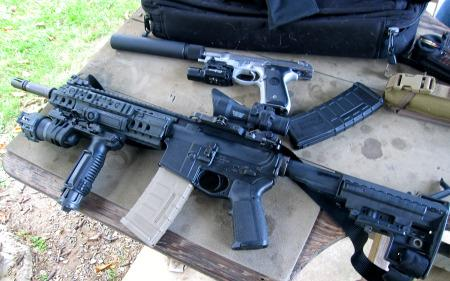 AR-15 semiautomatic owned by Rick Hubrich