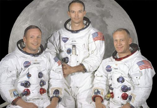 Astronauts Neil Armstrong, Michael Collins, and Buzz Aldrin. (NASA)
