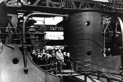 President Truman aboard the USS Augusta, July 1945.