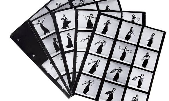 This set of five contact sheets taken of Lena Horne by Richard Avedon sold for $8,750. It was estimated to sell for $150.