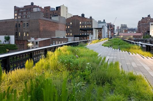 The High Line, Chelsea Grasslands, between West 19th Street and West 20th Street, looking North, 2009