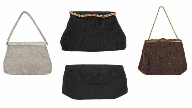 These four antique beaded bags sold for over $2,000.