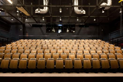The Judith and Alan Fishman Space is a flexible 250-seat theater.