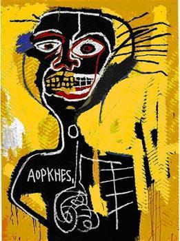 """Jean-Michel Basquiat's """"Cabeza"""" sold for $19,550."""