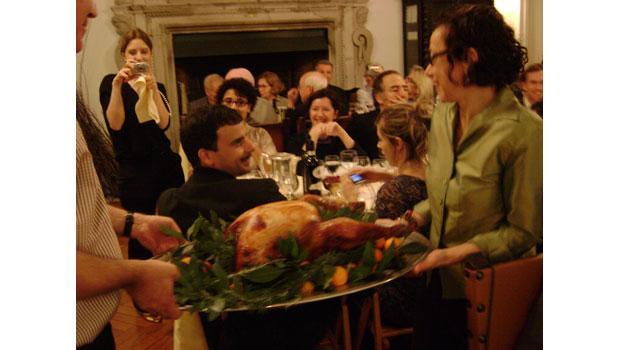 Roman Thanksgiving turkey