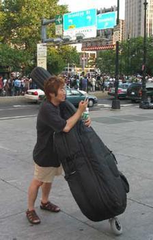 A bassist tried to figure a way home.