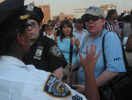As frustration mounted, police struggled to give accurate information.
