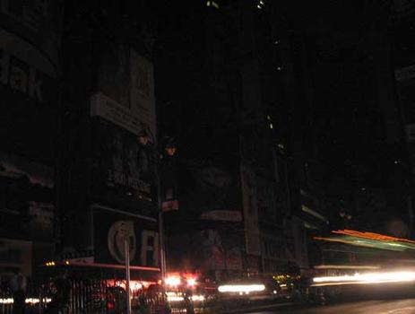 The night Times Square went dark.