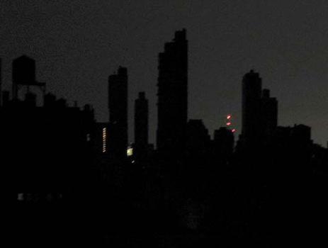 Columbus Avenue silhouette.
