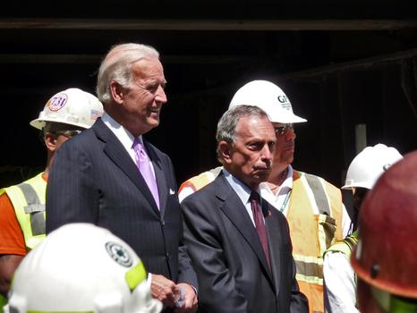 Mayor Michael Bloomberg and Vice President Joe Biden launch beginning of $500 million rehab.