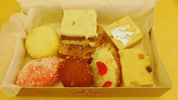 Delhi Palace has a Diwali special: one pound of mixed sweets for $6 (not including kaju rolls, kaju barfi and kaju katri).