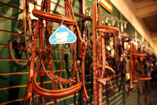 Tack at Manhattan Saddlery.