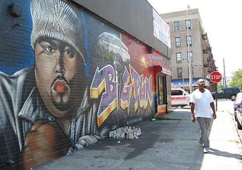 Mambo to hip hop walking tour wnyc for Big pun mural bronx